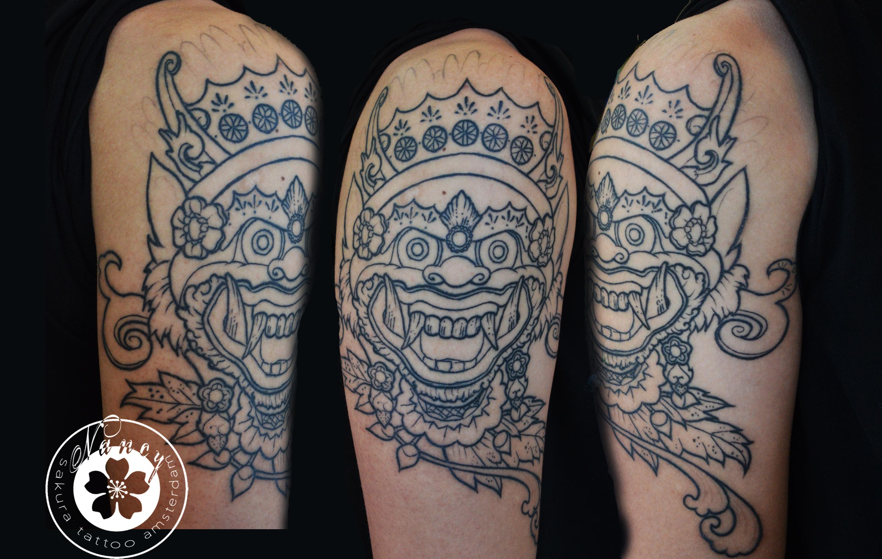 Balinese Tattoo Bali Balinese Mask Tattoo